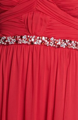 Way-In Embellished Strapless Gown (Juniors) (Online Only)