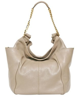 Jimmy Choo Anna Glossy Deerskin Shoulder Bag