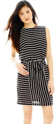Joe Fresh Sleeveless Striped Shift Dress