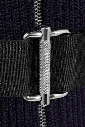 Miu Miu Ribbed-knit wool cardicoat