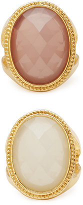 Forever 21 Cocktail Hour Faux Stone Ring Set
