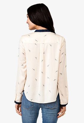 Forever 21 Satin Flamingo Top