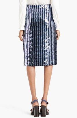 Marc Jacobs Sequin Pencil Skirt