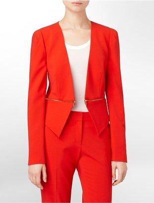 Calvin Klein Exposed Zip Detail Short Blazer