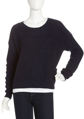 525 America Slouchy Pullover, Black/Blue