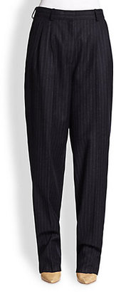 Vanessa Bruno Pinstriped Wool Flannel Pants