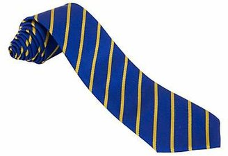 Unbranded Unisex Striped School Tie, Blue/Gold