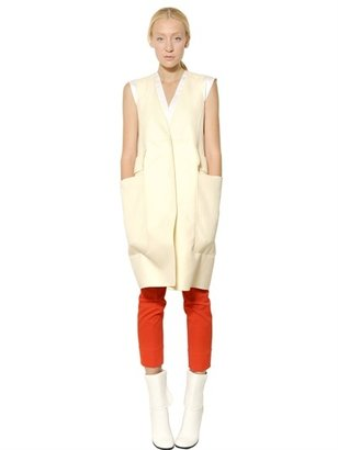 Jil Sander Double Cotton Gabardine Vest