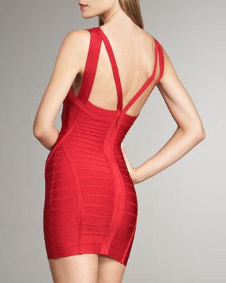 Herve Leger Double-Strap Bandage Dress