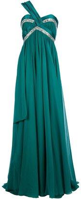 Murad Zuhair asymmetric shoulder strap dress