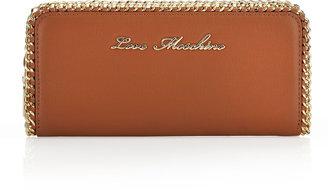 Moschino Chain-Trim Zip-Around Wallet