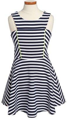 Sally Miller 'The West Palm' Stripe Dress (Big Girls)