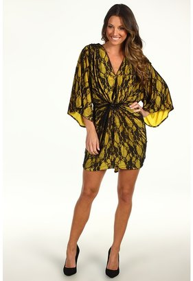 T-Bags Tbags Los Angeles - Short Lace Dress (Yellow) - Apparel