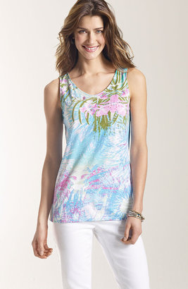 J. Jill Tropical burst print tank