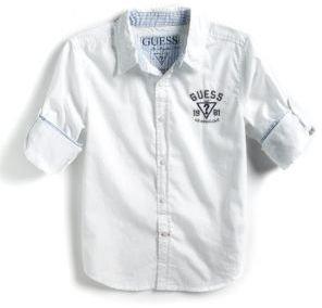 GUESS Boys 8-20 Cotton Button-Down Shirt
