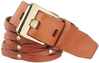 Vince Camuto Women's Equestrian Woven Belt