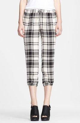 Haute Hippie Plaid Silk Drawstring Pants