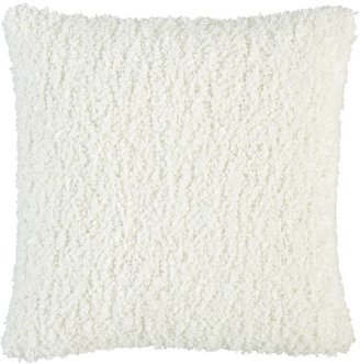 """Crate & Barrel Aubree Boucle White 18"""" Pillow"""