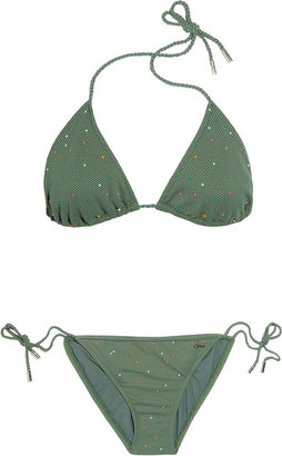 Chloé Polka-dot triangle bikini