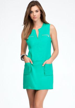 Bebe Sleeveless Cargo Pocket Dress