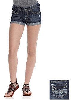 Wallflower Vintage® Juniors' Bling Back Shorts