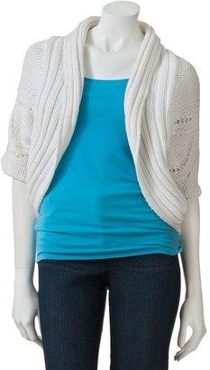 Isabella Collection Rodriguez Shawl Collar Knit Bolero