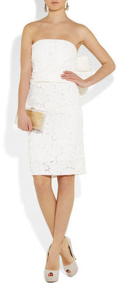 Lanvin Rosette-effect Cotton And Silk-blend Dress - White