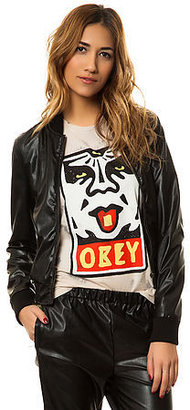 Obey The Riot Squad Bomber Jacket in Tropical and Black