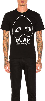 Comme des Garcons Emblem Cotton Tee in Black | FWRD