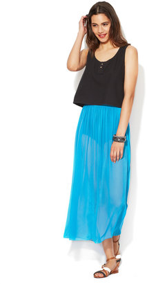 American Apparel Full Length Single Layer Maxi Skirt