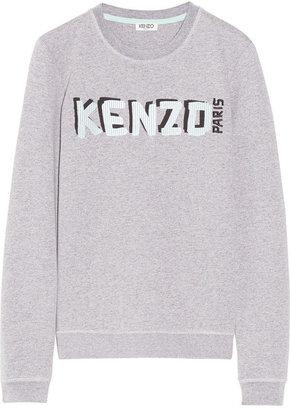 Kenzo Embroidered cotton-blend sweatshirt
