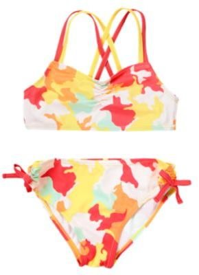 Camo Print Two-Piece Swimsuit