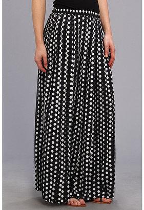 MICHAEL Michael Kors Pleated Slit Maxi Skirt