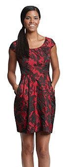 Betsey Johnson Floral Taffeta Dress