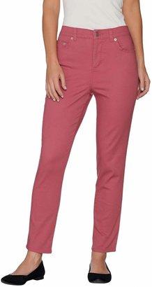 Denim & Co. Tall Slim Leg Classic Waist 5-Pkt Stretch Pants