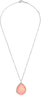 Ippolita Wonderland Silver Large Teardrop Pendant Necklace, Blush