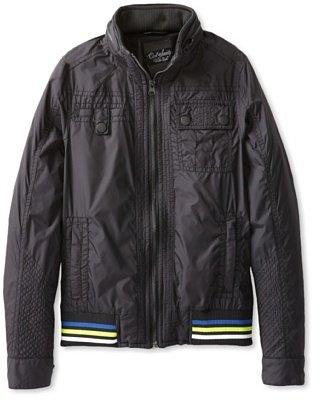 Civil Society Big Boys' Montella Straight Collar Jacket With Hidden Hood, Black, 8