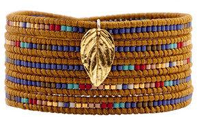 Chan Luu Mix Seed Bead Bracelet on Henna Leather