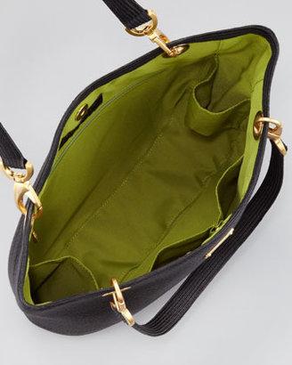 Eric Javits Squishee Clip Tote Bag, Black