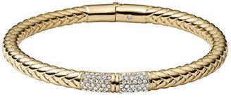 Michael Kors Gold-Tone & Braided Brass Bangle Bracelet