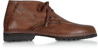 Pakerson Tan Handmade Italian Leather Ankle Boots