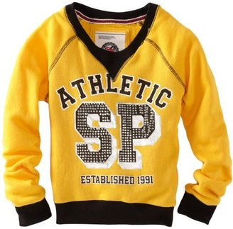 Southpole Big Girls' Soft Comfy Pullover Sweater With Rhinestone Detail