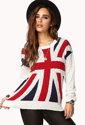Forever 21 Slub Knit Union Jack Sweater