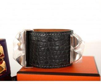 Hermes pristine (PR Graphite Matte Crocodile CDC Cuff with Palladium Hardware