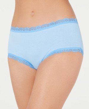 Jenni Cotton Lace Trim Hipster Underwear, Created for Macy's