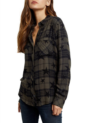 Rails Hunter Plaid Star-Print Button Down