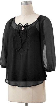 Lauren Conrad peasant blouse set