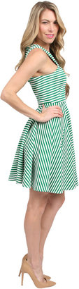 Torn By Ronny Kobo Vered Dress in Green Combo