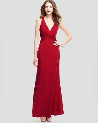 Laundry by Shelli Segal V Neck Jersey Gown - Sleeveless