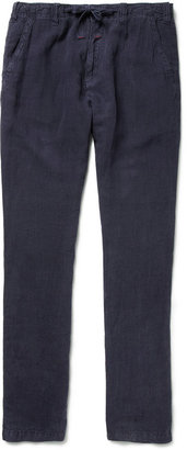 Hartford Troy Relaxed-Fit Linen Trousers